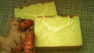 turmeric ginger milk soap
